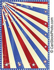 Striped grunge tricolor