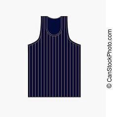 Striped Gym Vest Vector Illustration