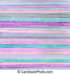 Striped hand drawn watercolor backg