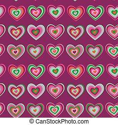 striped heart on purple background Valentine's day, wedding seamless pattern vector