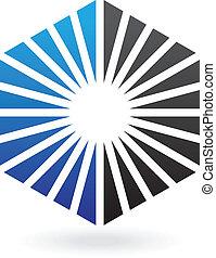 Striped Hexagon Abstract Icon
