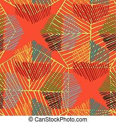 Striped hexagons big on orange