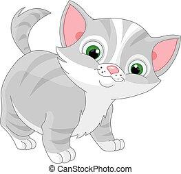 Striped Kitten - Illustration of striped kitten