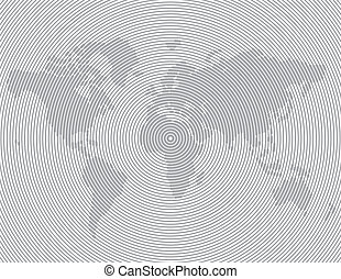 striped line world map vector template