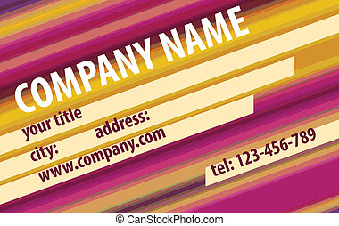 Striped Modern Abstract Business - Card. Vector Design