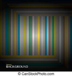 Striped multicolored pattern.