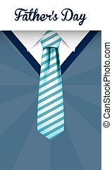Striped necktie on pullover of fathers day vector design