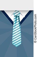 Striped necktie on pullover vector design