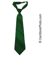 striped necktie - Fashionable striped necktie on a white...