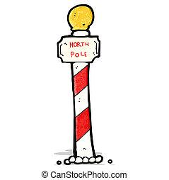 striped north pole cartoon