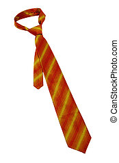 striped orange necktie