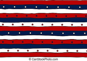 Striped patriotic background with stars