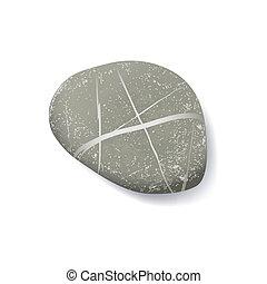 striped pebble - vector realistic striped pebble
