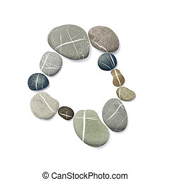 striped pebbles circle. one layer for each one