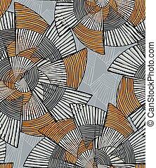 Striped pinwheels big gray and orange