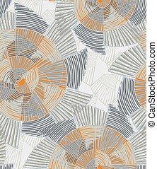Striped pinwheels big light gray and orange