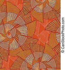 Striped pinwheels big orange