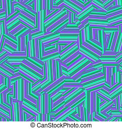 Striped psychedelic seamless pattern
