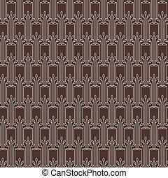 Striped seamless pattern in art deco style.