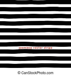 striped seamless pattern vector, black and white