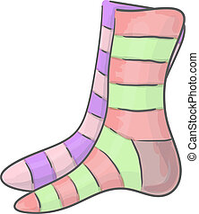 Striped socks - Different striped unpaired socks eps 10...