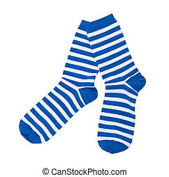 Striped socks isolated on the white