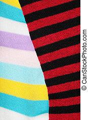 striped socks - detail of a striped wool socks