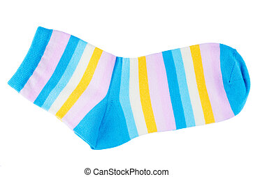 Striped socks isolated