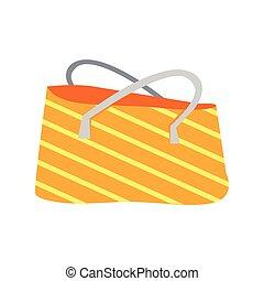 Striped Summer Beach Bag - Orange and white striped summer ...