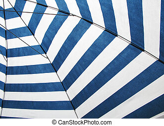 Striped sun umbrella