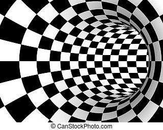 striped tourus hole. 3d illustration