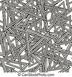 Striped Triangles Seamless Pattern
