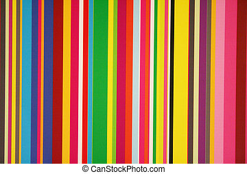 Stripes and Colors - Stripes of colors on a window pane.