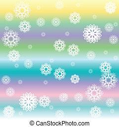 stripes and white snow flakes