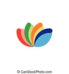 stripes curves colorful logo vector