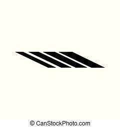stripes geometric abstract logo vector