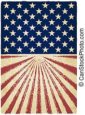 stripes, och, stjärnor, gammal, bakgrund
