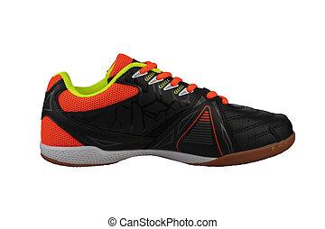 stripes., orange, noir, basket, dentelles