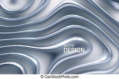 stripes., organische , wellig, silber