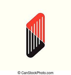 stripes trapeze logo vector