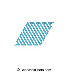 stripes trapeze shape geometric line design vector
