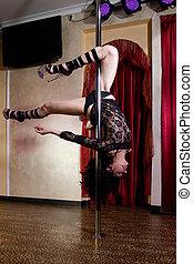 stripper, pool, dancing