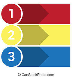 strips arrows points 3 - Template Infographic, the numbered...
