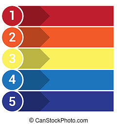 strips arrows points 5 - Template Infographic, the numbered ...