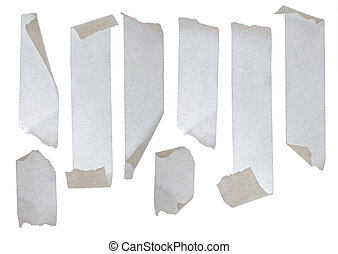 Strips of masking tape. Isolated on white background.