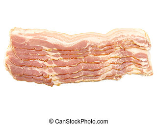 Strips of smoked bacon