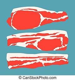 strips sliced bacon