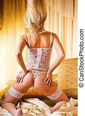 Striptease dancer
