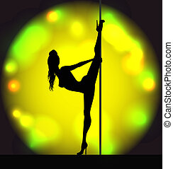 Striptease girl silhouette