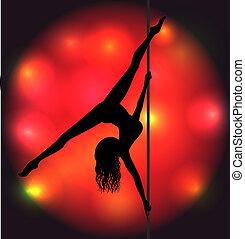 Striptease girl